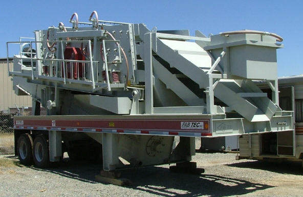 New Fab Tec 5'x16′ 3-Deck Portable Wash Plant with 36″x25′ Fine Material Washer