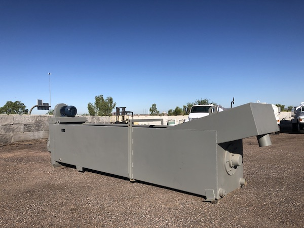 Ground level view rear left of Gator 36x18 Coarse Material Washer.