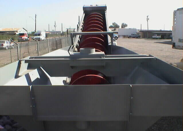"Fine Material Washer / Sand Washer. Gator 36""x25' PSS3625 Fine Material Washer. View of feed end."