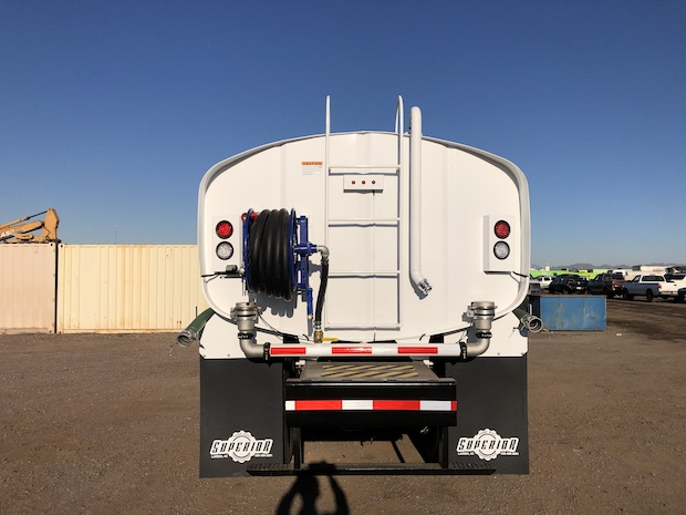 2009 Freightliner M2 106 4,250 Gallon Water Truck. Rear center side view.