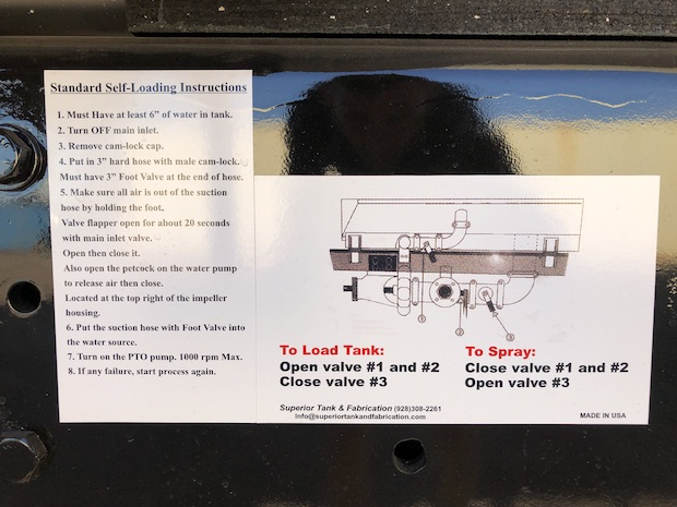 2009 Freightliner M2 106 4,250 Gallon Water Truck. Self loading instructions.