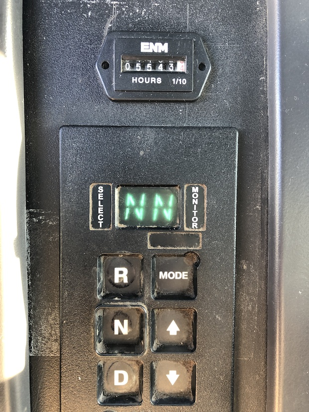 2009 Freightliner M2 106 4,250 Gallon Water Truck. Allison automatic transmission control panel.