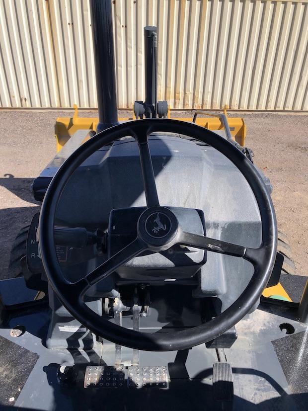 2013 John Deere 310K EP. Steering wheel.