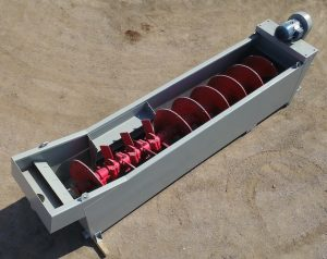 Gator 44x20 Coarse Material Washer. Aerial view, back right of the machine.