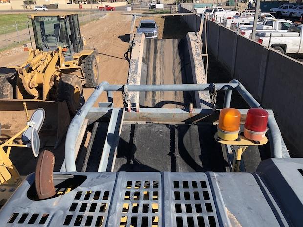 2006 Komatsu BR380JG. Track Mounted Jaw Crusher. Top view. Discharge conveyor.