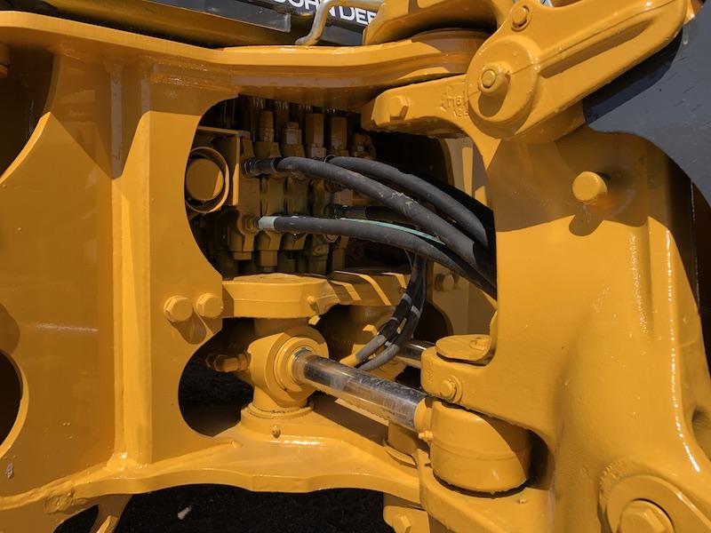 2012 John Deere 310K EP. Rear main hydraulics.
