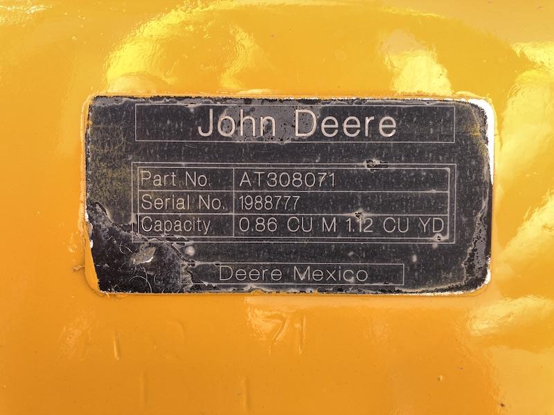2012 John Deere 310K EP. Front bucket serial number.