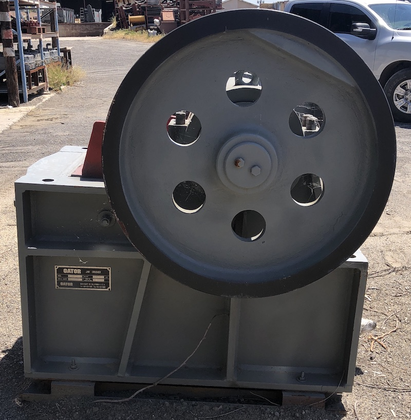 Gator 10x16 Jaw Crusher. Left side view.