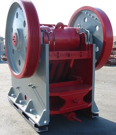 Gator 24x36 Jaw Crusher . Back left view of crusher.