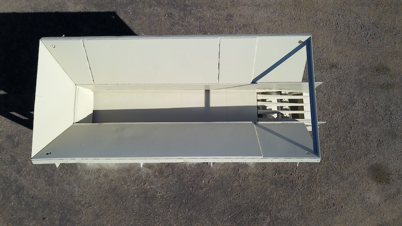 Telsmith 42x20 Vibrating Grizzly Feeder. Overhead center view.