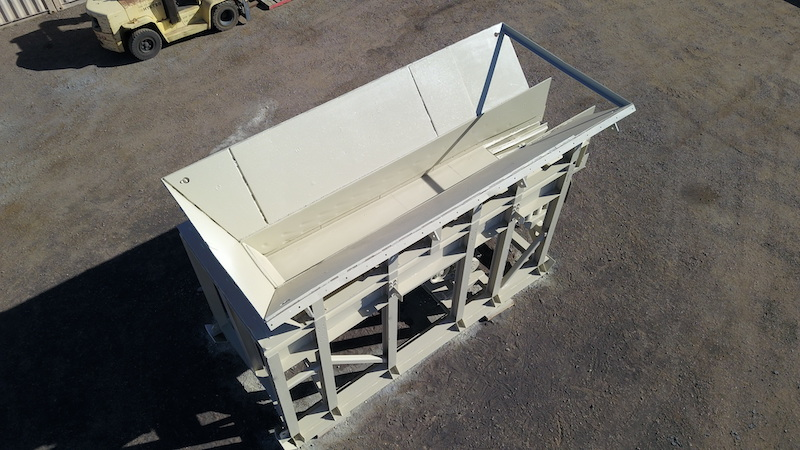 Telsmith 42x20 Vibrating Grizzly Feeder. Overhead rear view.