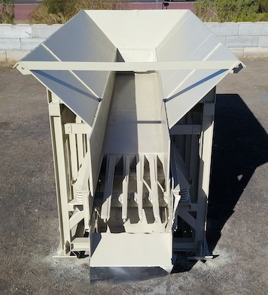 Telsmith 42x20 Vibrating Grizzly Feeder. Overhead front center view.