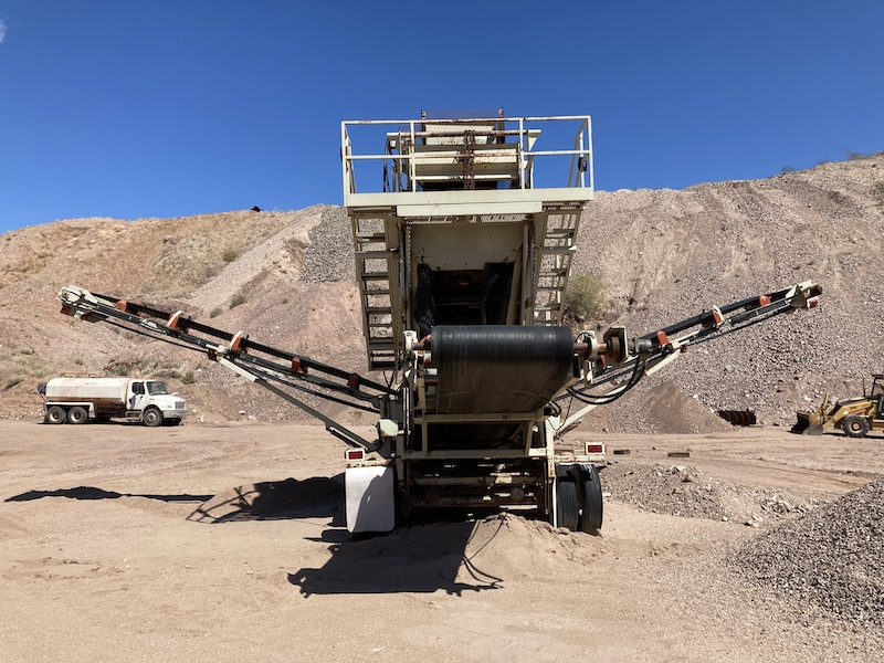 2004 Astec2612D Fold-N-Go Portable Screening Plant. Center back view.