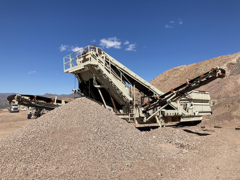 2004 Astec2612D Fold-N-Go Portable Screening Plant. Rear right view.