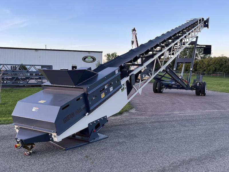 "2021 DEMI 30""x80' Radial Stacking Conveyor."